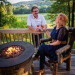 French Ridge Vineyards — Private deck overlooking the vineyard