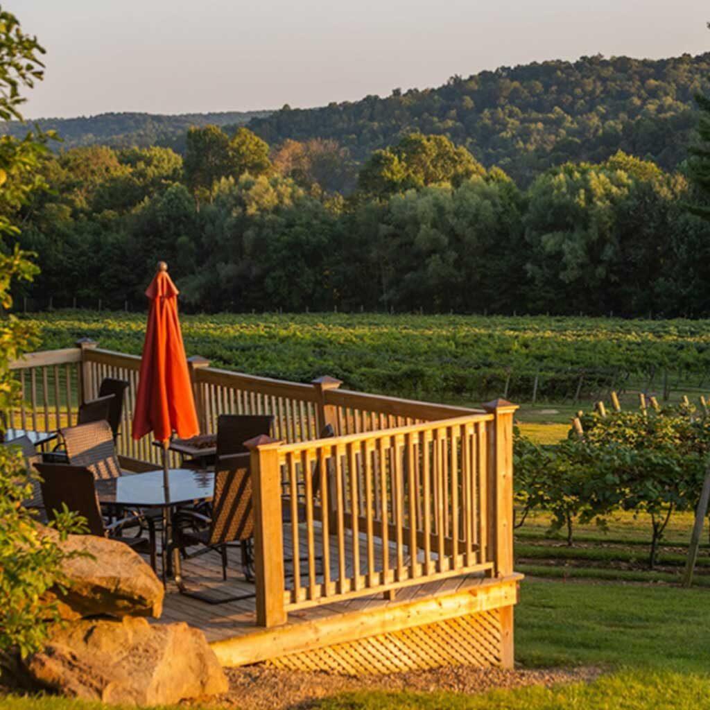 French Ridge Vineyards —  Lower Deck